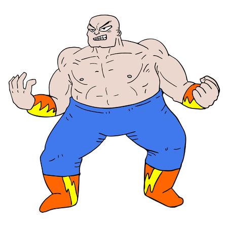Wrestler illustration