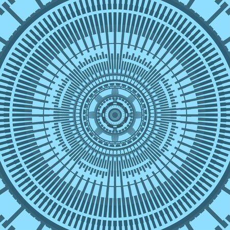 circl: Creative futuristic tunnel background