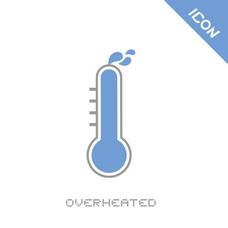 overheated icon Illustration