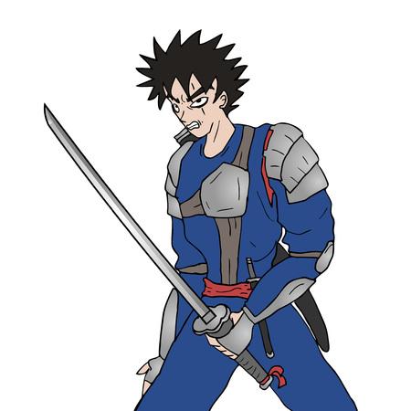 rebel warrior illustration