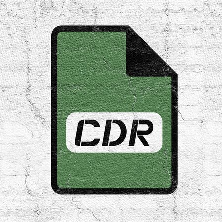 computer cdr file icon Stock Photo