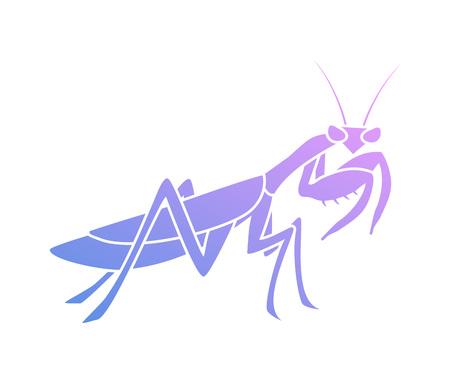 Creative purple mantis