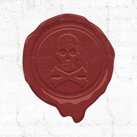 wax seal illustration 版權商用圖片