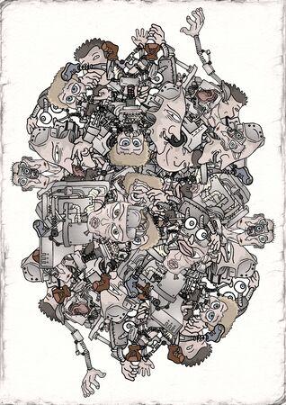 fantasy robots illustration