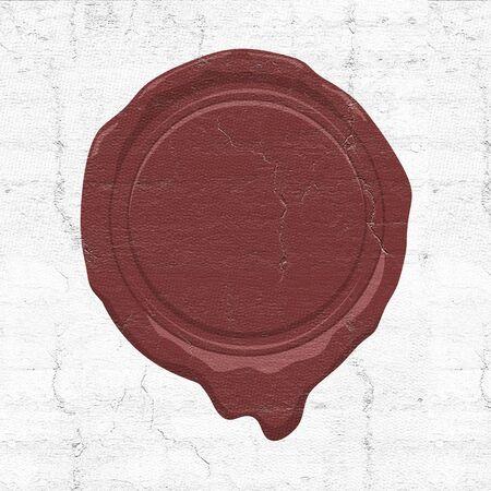 illustration de sceau de cire Banque d'images