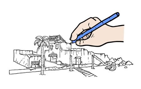 debris illustration Иллюстрация