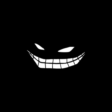 prankster: creature smiling in the darkness Illustration