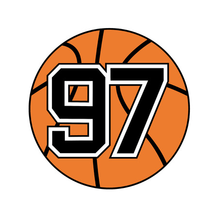ball of basketball with the number 97