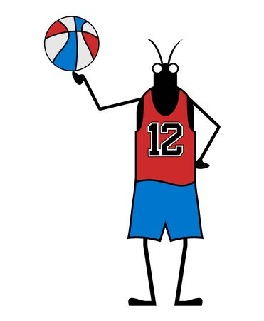 Creative basketball player insect