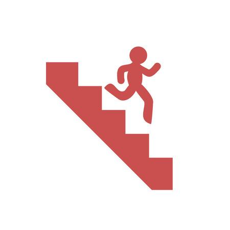 Bajando escaleras símbolo Foto de archivo - 83836966