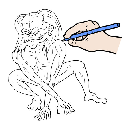Drawing a monster