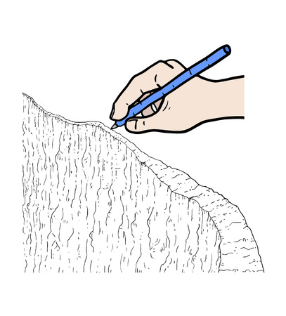 A hand drawing icon