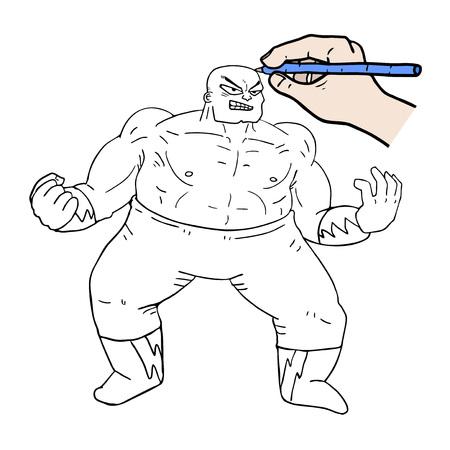 Wrestler illustration.