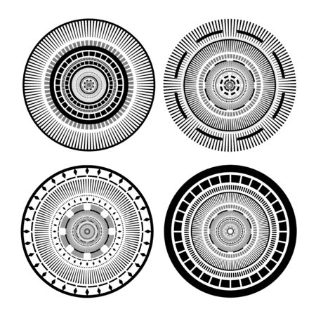 Cirlce symbols set collection
