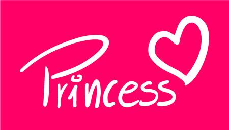 Princess symbol on pink.