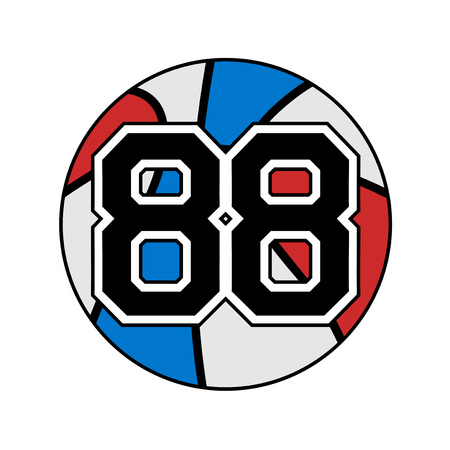 ball of basketball with the number 88