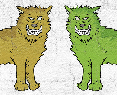 two color wolfs