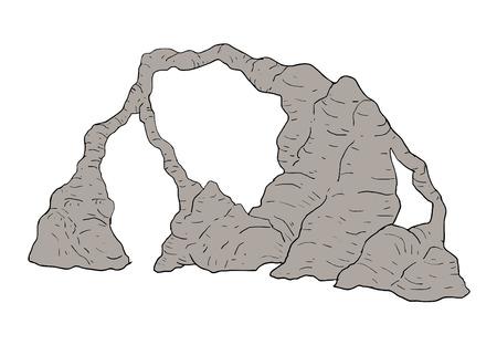 岩石地帯。