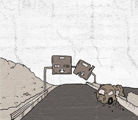 old highway Imagens