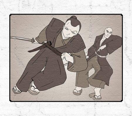 samurai illustration Stock Illustration - 85615846
