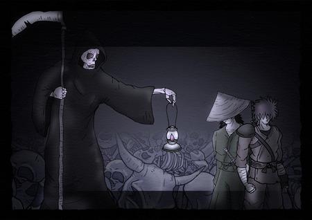 terror: Halloween terror scene