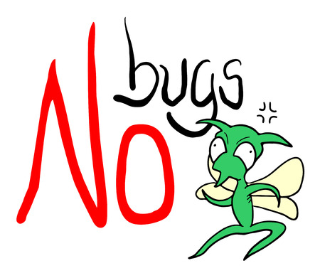 No bugs sign. 向量圖像