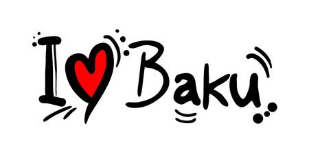 Baku love message