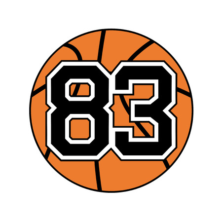 ball of basketball with the number 83