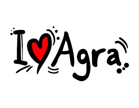 Agra love message Illustration