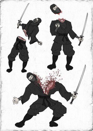 ninja illustration Stock Photo