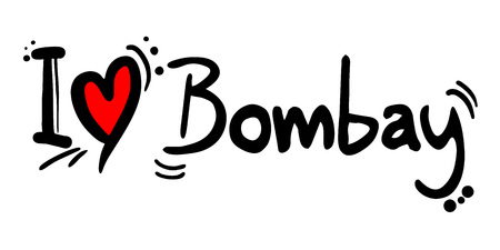Bombay love message Illustration