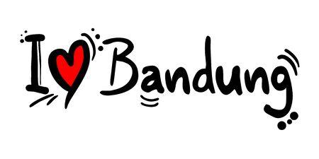 Bandung love message Illustration