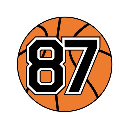 ball of basketball with the number 87