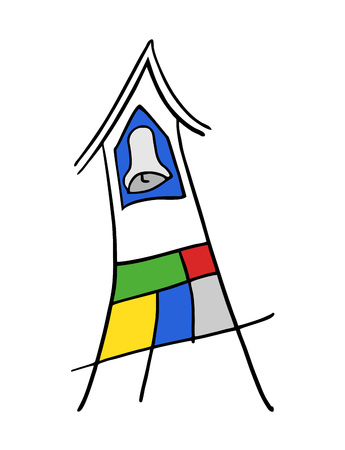 creative tower bell icon