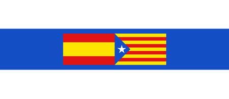 Spain and Catalonia flags symbol