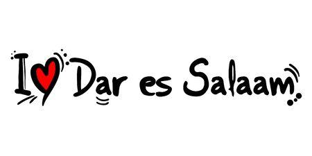 Dar es Salaam city of Tanzania love message
