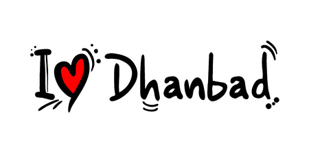 Dhanbad city love message