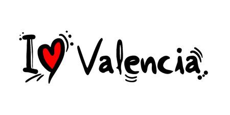 Valencia love message Иллюстрация