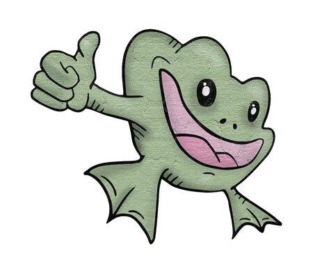 happy frog Stock Photo