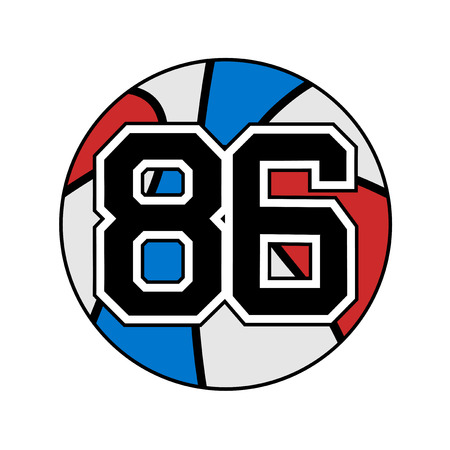 ball of basketball with the number 86
