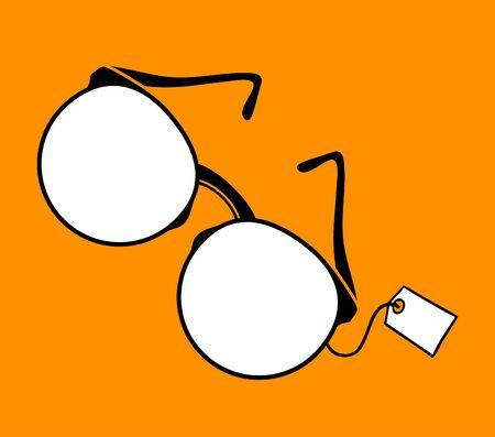 cool eyeglasses illustration Illustration