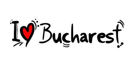 Bucharest love message