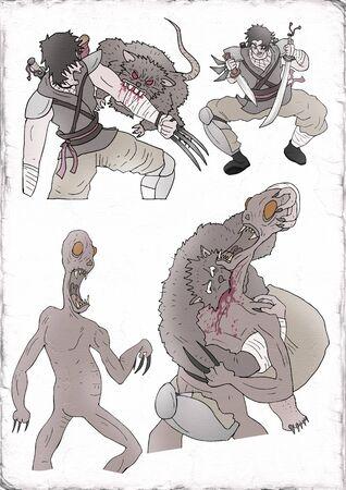 Warriors illustration
