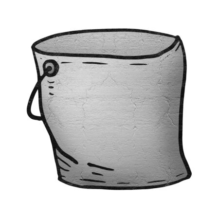 Tin bucket illustration Stock Photo