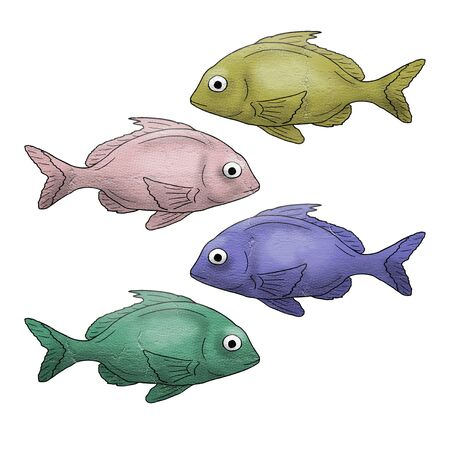 Color fish Stock Photo