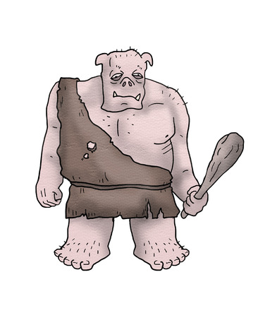 strong ogre illustration