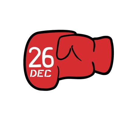 Boxing day symbol Illustration