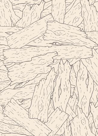 Viejos pedazos de madera