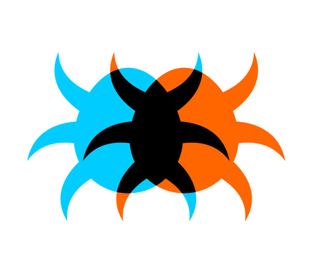 Tick symbol illustration on white background.