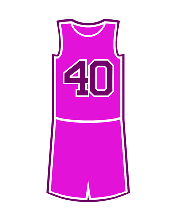 농구 보라색 유니폼 일러스트 레이션